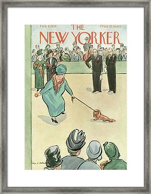 New Yorker February 8th, 1936 Framed Print by Helen E. Hokinson