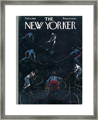 New Yorker February 8th, 1958 Framed Print by Garrett Price