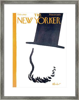 New Yorker February 9th, 1963 Framed Print
