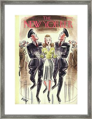New Yorker January 10th, 1942 Framed Print by Leonard Dove