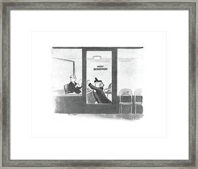 New Yorker January 10th, 1942 Framed Print by Mischa Richter