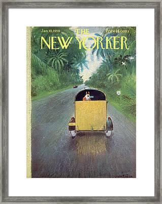 New Yorker January 10th, 1959 Framed Print