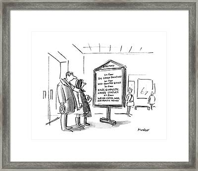 New Yorker January 10th, 1983 Framed Print