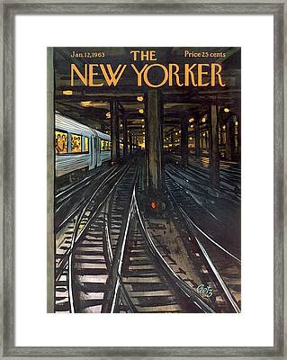 New Yorker January 12th, 1963 Framed Print by Arthur Getz