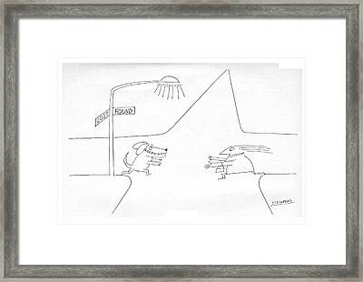 New Yorker January 12th, 1976 Framed Print by Saul Steinberg