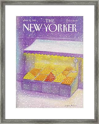 New Yorker January 12th, 1981 Framed Print