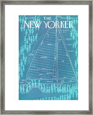 New Yorker January 13th, 1962 Framed Print