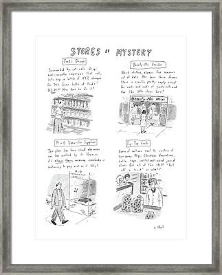 New Yorker January 13th, 1986 Framed Print by Roz Chast