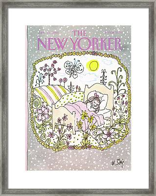 New Yorker January 13th, 1986 Framed Print by William Steig