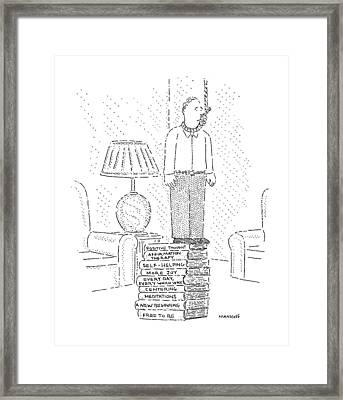 New Yorker January 13th, 1992 Framed Print by Robert Mankoff
