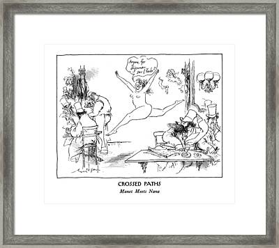 New Yorker January 13th, 1992 Framed Print by Ronald Searle