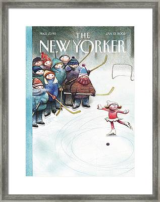 New Yorker January 13th, 2003 Framed Print by Carter Goodrich