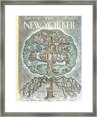 New Yorker January 14th, 1991 Framed Print
