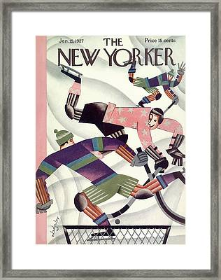 New Yorker January 15th, 1927 Framed Print by Constantin Alajalov