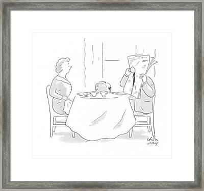 New Yorker January 15th, 1944 Framed Print by Chon Day