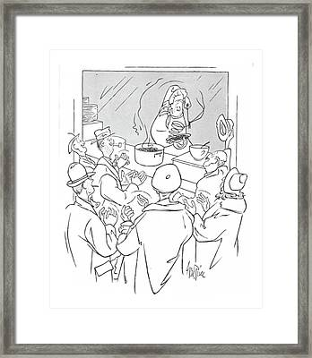 New Yorker January 15th, 1944 Framed Print by George Price