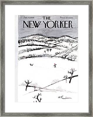New Yorker January 15th, 1949 Framed Print by Abe Birnbaum