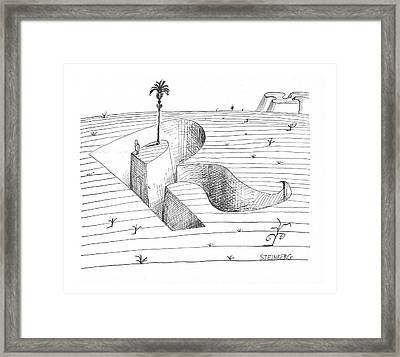 New Yorker January 15th, 1966 Framed Print by Saul Steinberg