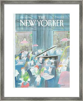 New Yorker January 15th, 1990 Framed Print by Jean-Jacques Sempe