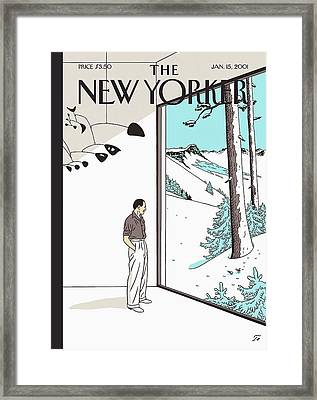New Yorker January 15th, 2001 Framed Print by Jean Claude Floc'h