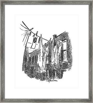 New Yorker January 16th, 1943 Framed Print by Alan Dunn