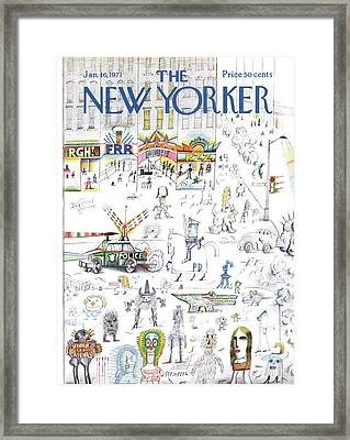 New Yorker January 16th, 1971 Framed Print
