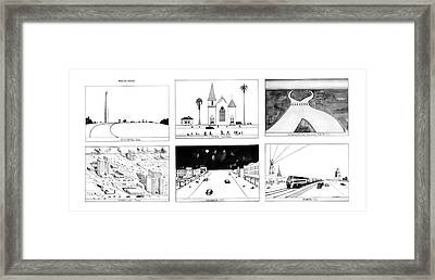 New Yorker January 16th, 1978 Framed Print by Saul Steinberg