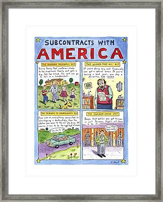 New Yorker January 16th, 1995 Framed Print by Roz Chast