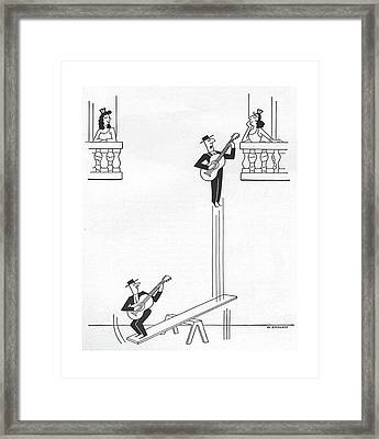 New Yorker January 17th, 1959 Framed Print by Otto Soglow