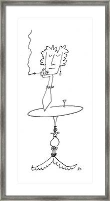 New Yorker January 18th, 1958 Framed Print by Saul Steinberg