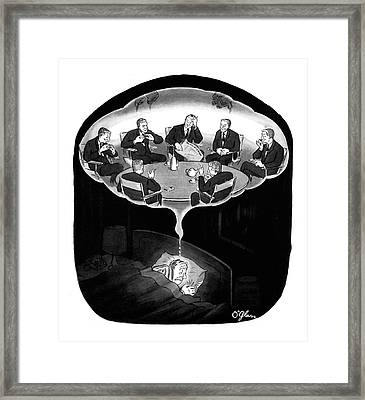 New Yorker January 18th, 1964 Framed Print by C.E. O'Glass