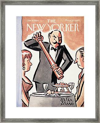 New Yorker January 18th, 1964 Framed Print by Peter Arno