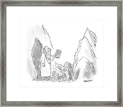 New Yorker January 18th, 1988 Framed Print by James Stevenson