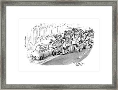 New Yorker January 18th, 1993 Framed Print by Sam Gross