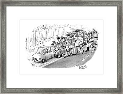 New Yorker January 18th, 1993 Framed Print by Sam Gross