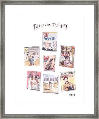 New Yorker January 18th, 1999 Framed Print by Barry Blitt