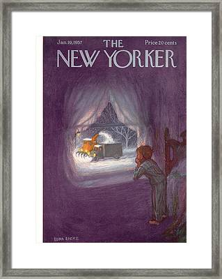 New Yorker January 19th, 1957 Framed Print by Edna Eicke