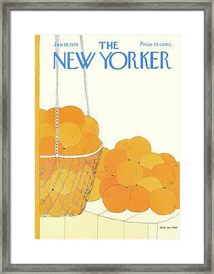 New Yorker January 19th, 1976 Framed Print