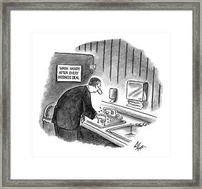 New Yorker January 19th, 1998 Framed Print by Frank Cotham