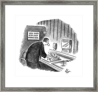 New Yorker January 19th, 1998 Framed Print