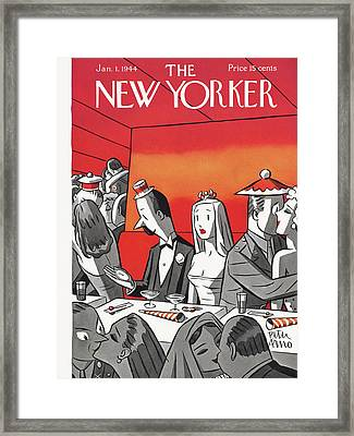 New Yorker January 1st, 1944 Framed Print by Peter Arno