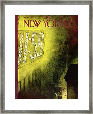 New Yorker January 1st, 1955 Framed Print by Arthur Getz