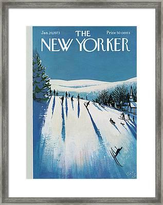 New Yorker January 20th, 1973 Framed Print by Arthur Getz