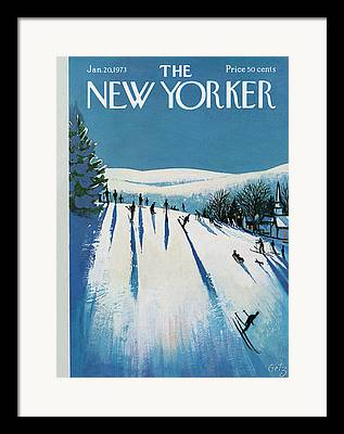 Skiers Framed Prints