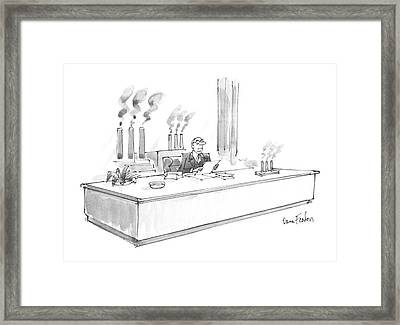 New Yorker January 20th, 1986 Framed Print by Dana Fradon