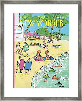 New Yorker January 20th, 1992 Framed Print by Barbara Westman