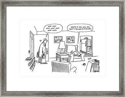 New Yorker January 20th, 1992 Framed Print by Jack Ziegle