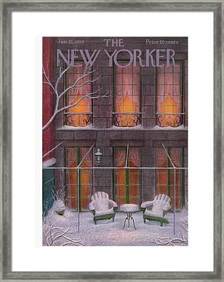 New Yorker January 21st, 1956 Framed Print by Edna Eicke