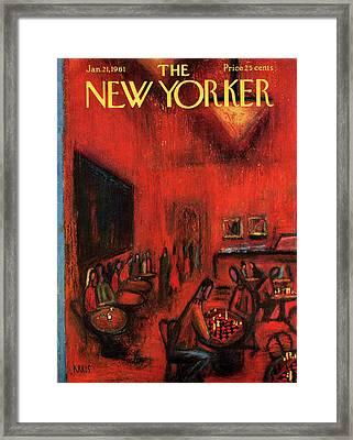 New Yorker January 21st, 1961 Framed Print by Robert Kraus