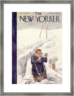New Yorker January 22nd, 1938 Framed Print by Perry Barlow